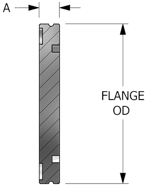 Large Speed Flange, Blank