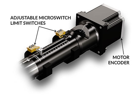 Motorized Linear Feedthrough with Encoder and Switches