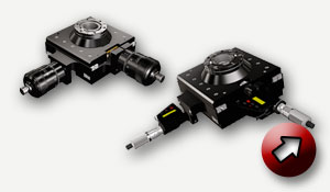 XY Stage in a compact design, motorized or micrometer action.
