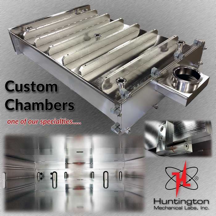 Huntington Labs expertise with Custom Vacuum Chambers featuring a chamber for Kinestral